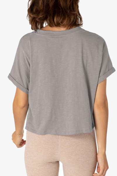 Never Been Boxy Cropped Tee - Latte Heather