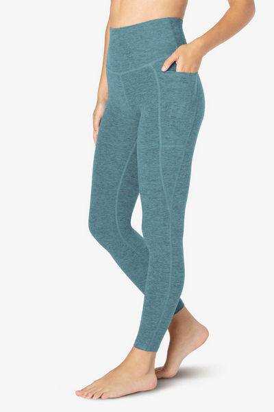 Out of Pocket High Waisted Midi Legging - Meadow Sage/Frosty Glade