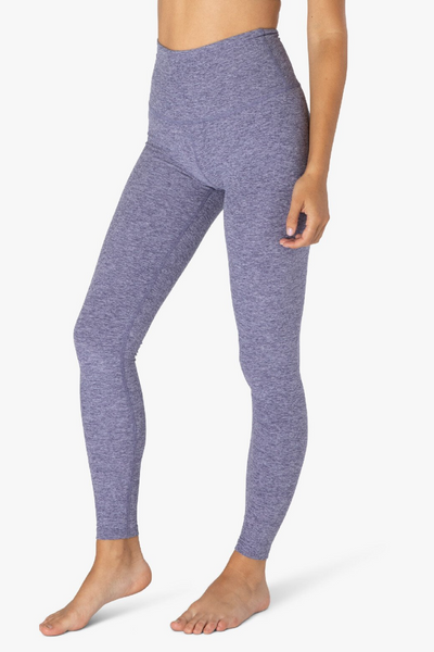 High Waisted Midi Legging - Dusty Violet/Lilac