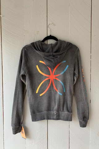 BarreCoast Zip Sweatshirt Arm Logo - Rainbow/Graphite