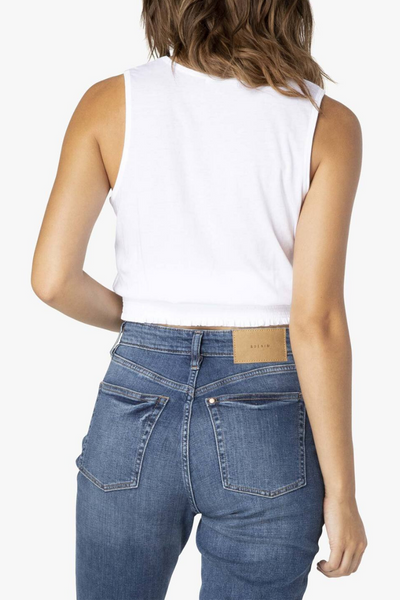 Hot to Smock Cropped Tank - White