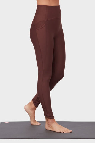 7/8 High Rise Presence Legging- Deeply Rooted Brown