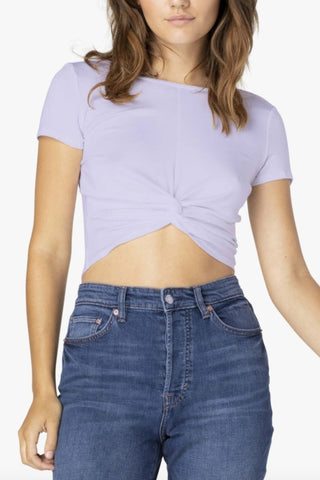 Don't Get It Twisted Reversible Cropped Tee- Lovely Lilac