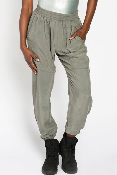 Cupro Joggers - Army Grey