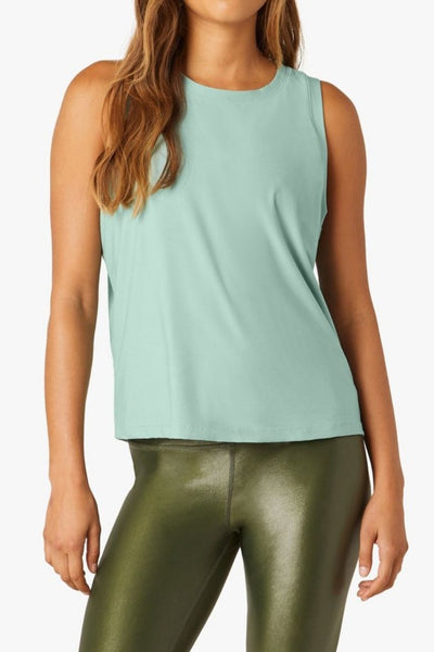 Balanced Muscle Tank - Mermaid Green Solid