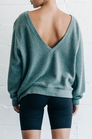 Get It Pullover - Evergreen Sherpa