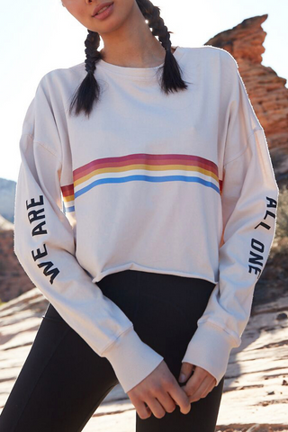 All One Oversized Crop Long Sleeve