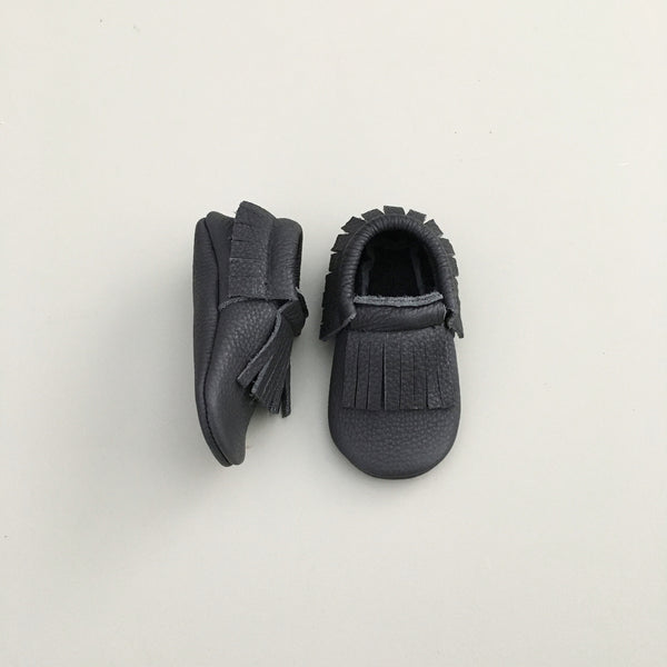 'Raven' Baby Moccasins