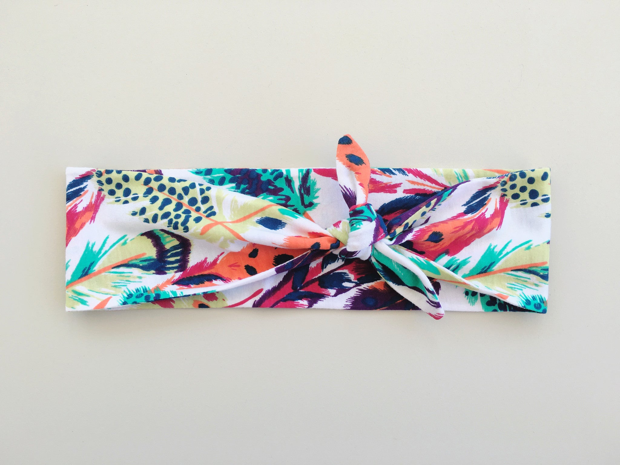 Bright Feather Knot Headband