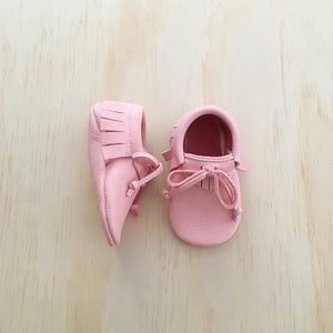 'Peonies' Baby Moccasins