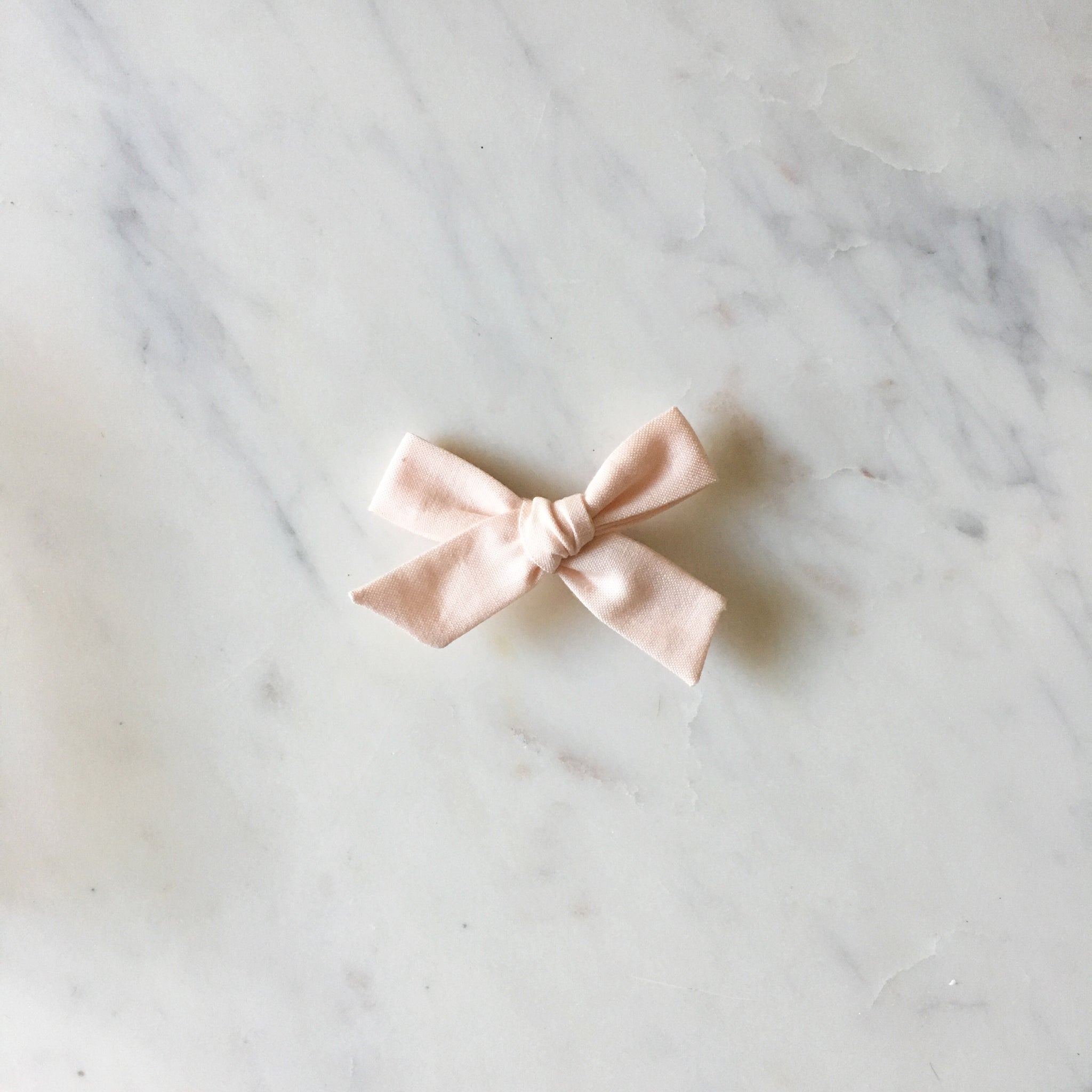 'Willa' Hand-Tied Bow - Soft Pink