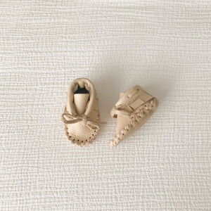 Leather Baby Booties - Palomino