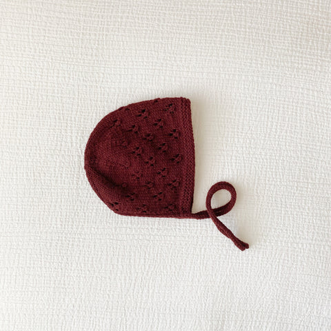 'Scarlet' Knit Bonnet - Newborn 14""
