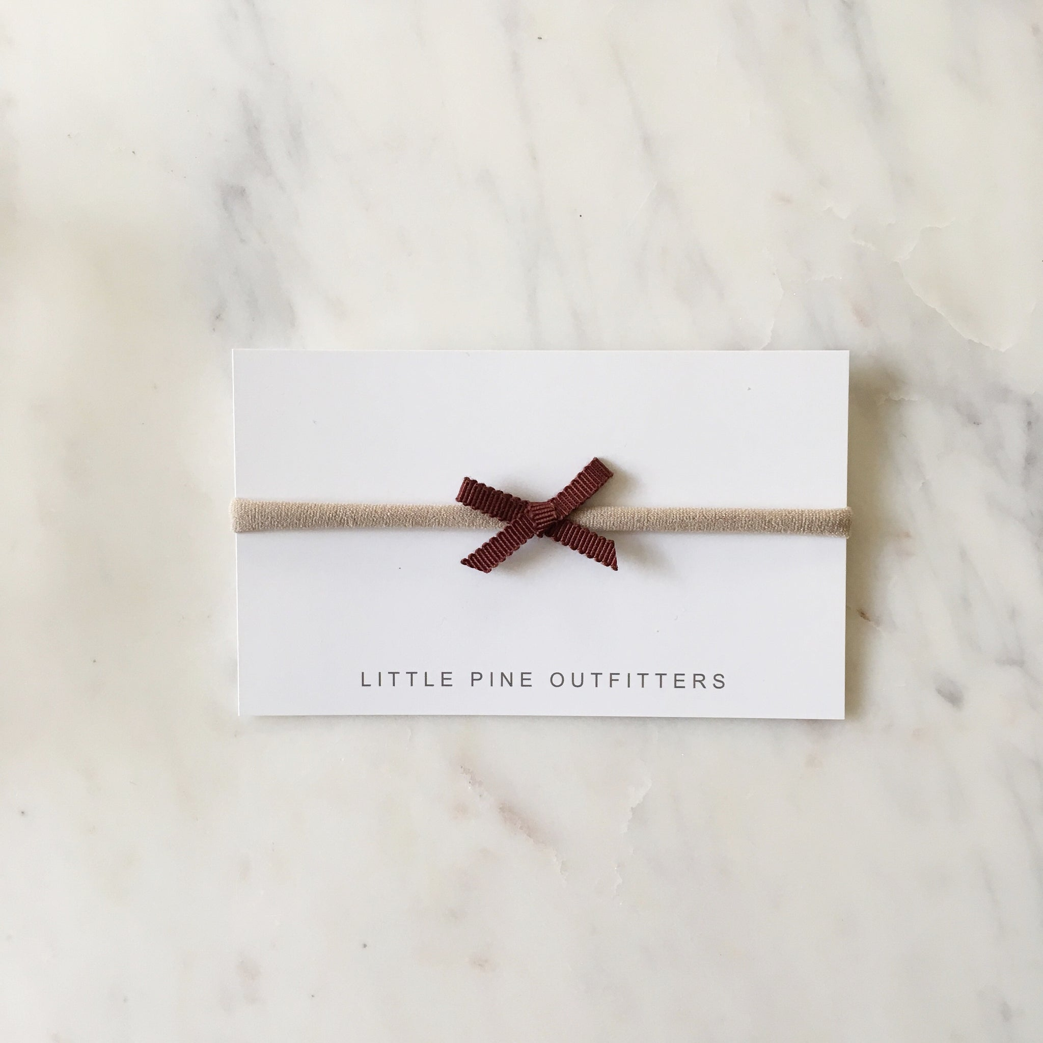 'Mia' Mini Ribbon Bow - Crimson