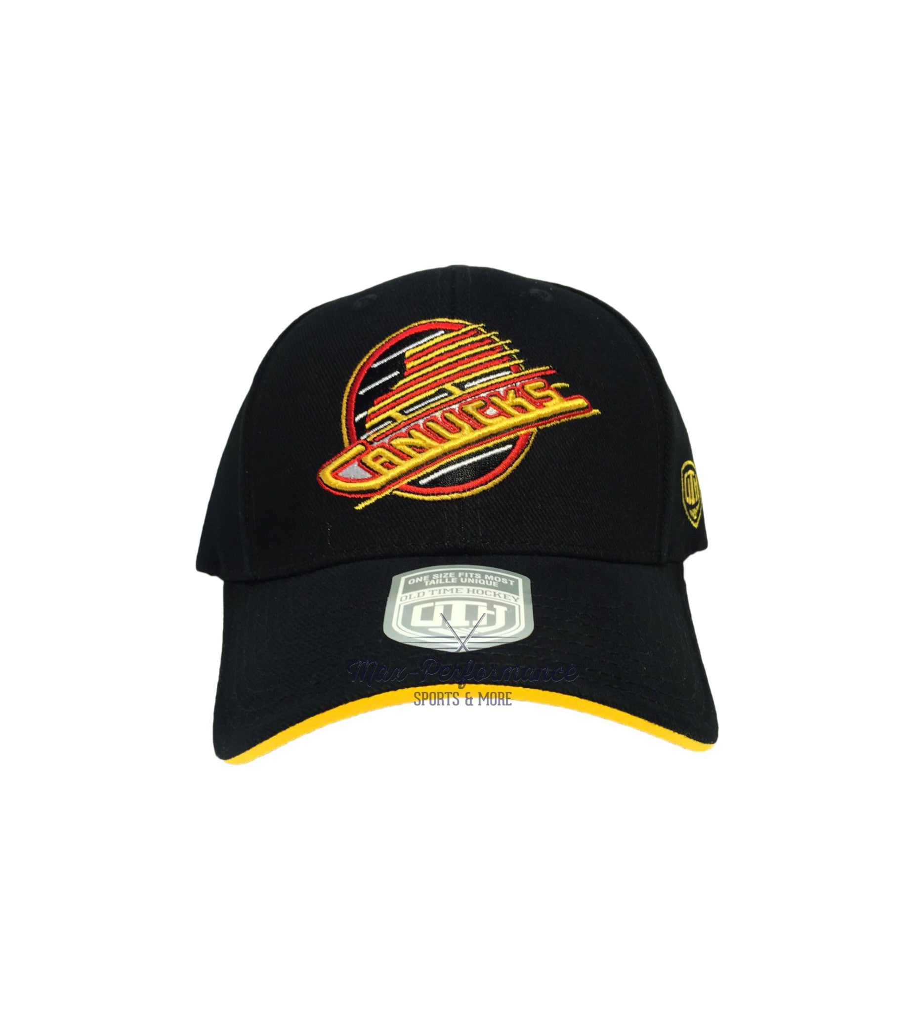 Vancouver Canucks Black Skate Logo Hat – Max-Performance Sports   More b3d71cebb098