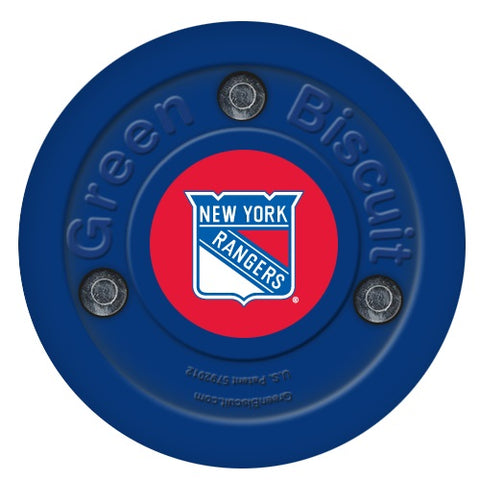 new-york-rangers-green-biscuit-puck