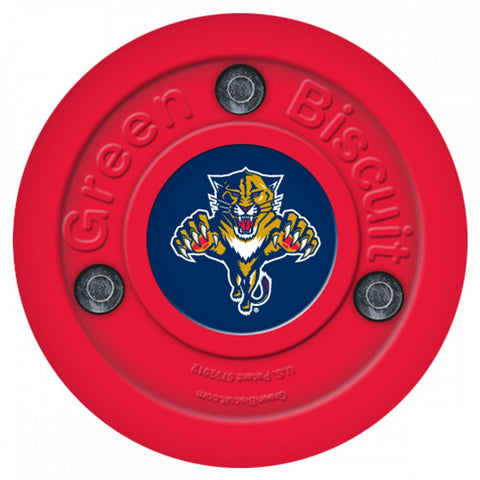 Florida Panthers NHL Green Biscuit Training Puck
