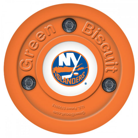 new-york-islanders-green-biscuit-puck