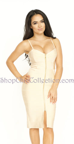 Tasha Bandage Dress - Light Pink