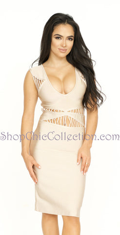 Scarlett Two Piece Bandage Dress