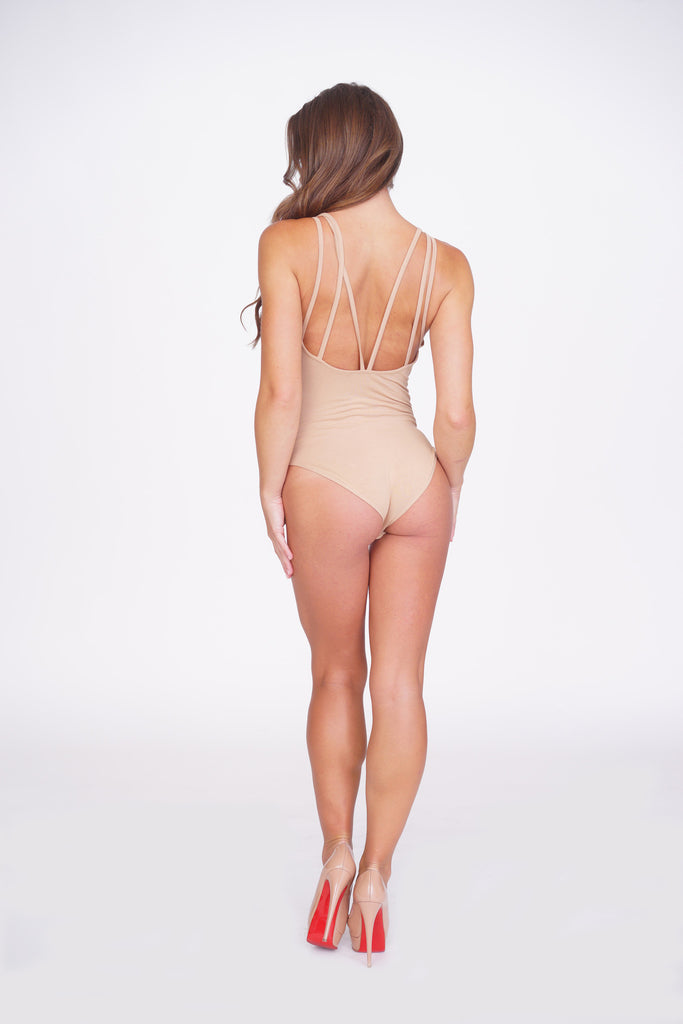 On The Prowl Bodysuit - Nude -tops