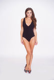 On The Prowl Bodysuit - Black -Tops