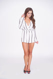 Striped Me Down Romper -rompers