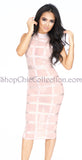 Tasha Bandage Dress - Light Pink -Bandage