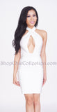Maya Bandage Dress - White -bandage