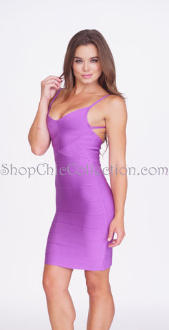 Briana Bandage Dress - Blue