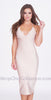 Keira Bandage Dress - Beige -bandage