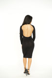 Perfect Back Cutout Bodycon Dress - Black -dresses