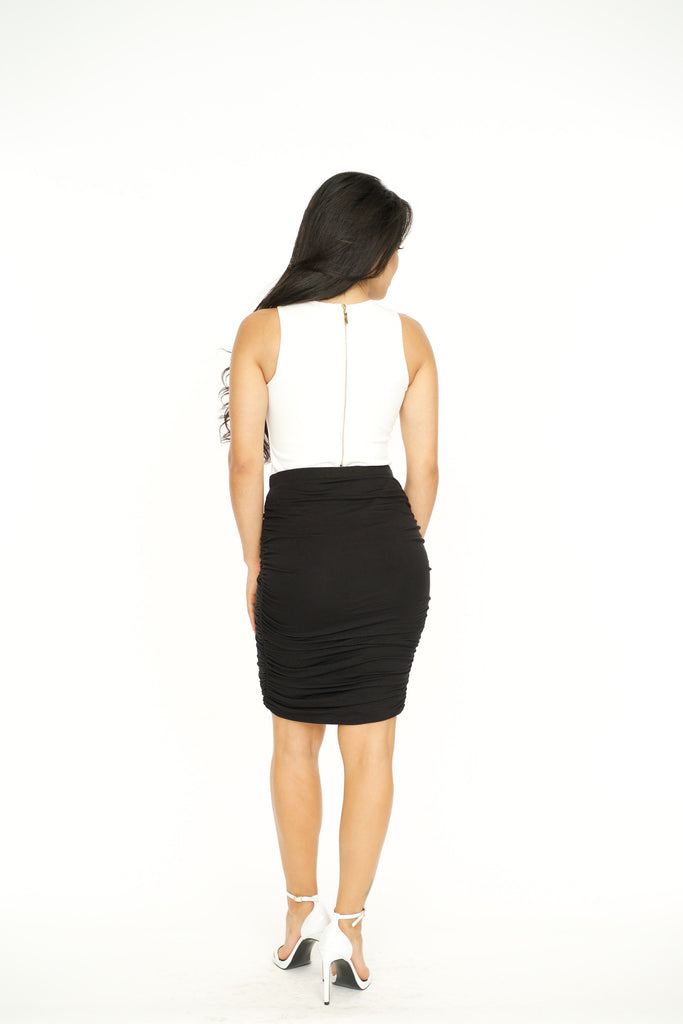 Ruched Mini Skirt -bottoms