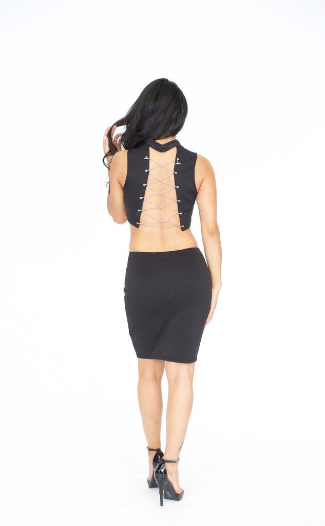 Off The Chain Dress - Black -dresses