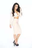 Tessa Two Piece - Taupe -dresses