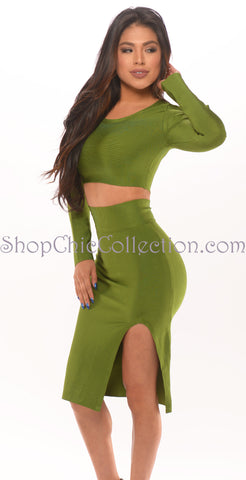 ELSHA BANDAGE DRESS