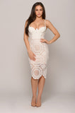 ANGIE CROCHET LACE DRESS -Dresses