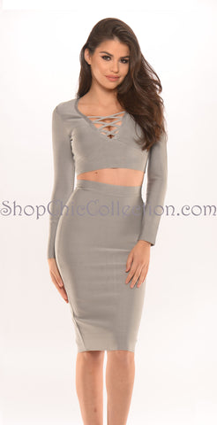 LILA BANDAGE DRESS