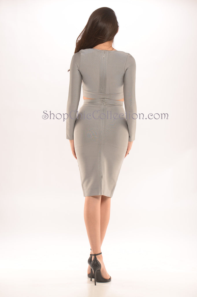 Emma two piece bandage dress -Bandage