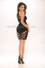 Janie Bandage Dress - Black -Bandage