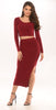 Sweet Nothing Ribbed Knit Two Piece - Wine -dresses