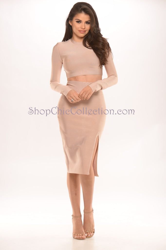 Audrey Two Piece Bandage Dress -Bandage