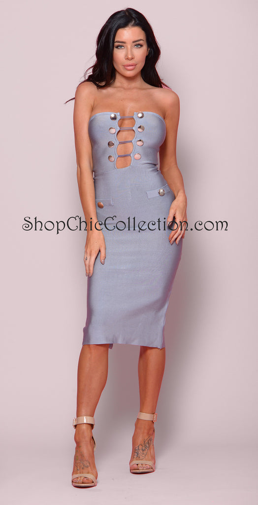 CLOVER BANDAGE DRESS -Bandage