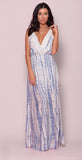 SANDY BLUE TIE-DYE MAXI DRESS