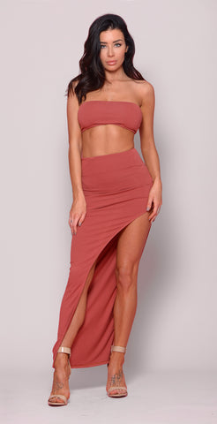 Tessa Two Piece - Taupe