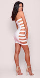 DARE TO BARE OPEN SIDE MINI DRESS