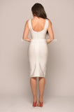 ISLA BANDAGE DRESS - WHITE -Bandage
