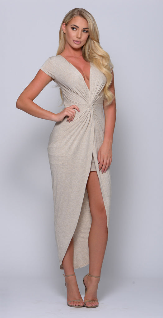 HAYDEE KNOTTED FRONT MAXI DRESS