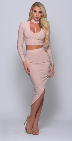 Carla two piece bandage dress - olive