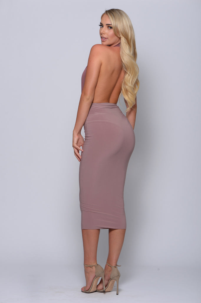 IN THE TREND ZONE MIDI SKIRT